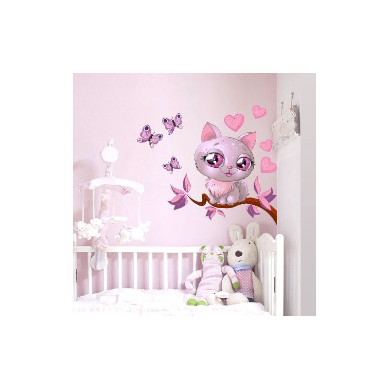 Stickers geant chambre fille ourson pour bb sticker for Autocollant mural chambre bb