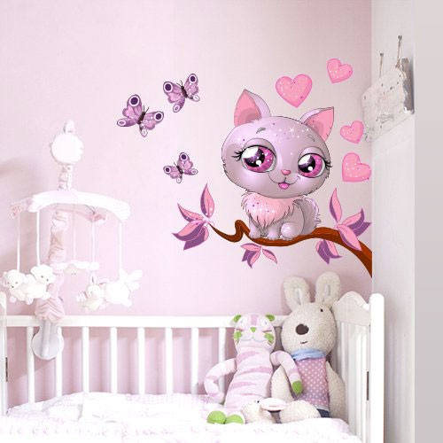Stickers chambre b b dispo sur stickers et for Sticker mural chambre fille