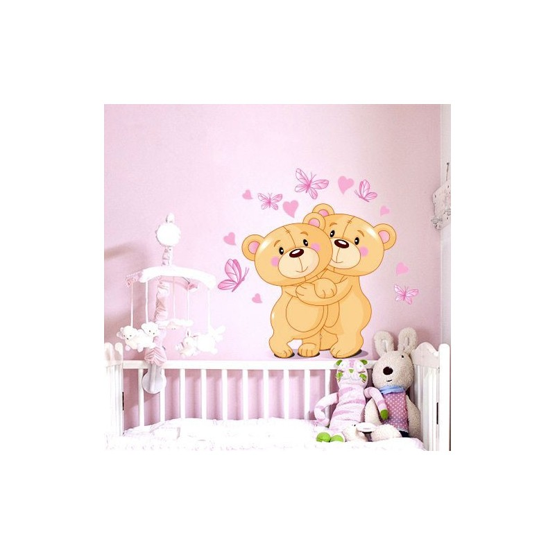 charming sticker ourson chambre bebe 3 acte deco. Black Bedroom Furniture Sets. Home Design Ideas