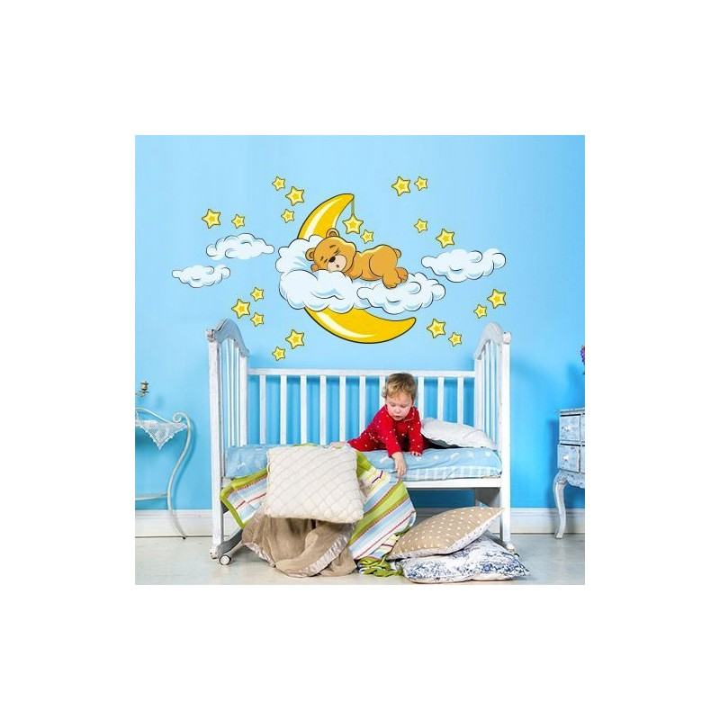 stickers ourson chambre enfant petits prix de folie. Black Bedroom Furniture Sets. Home Design Ideas