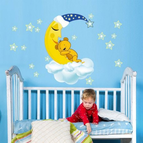 Stickers ours chambre b b stickers et - Stickers nounours chambre bebe ...