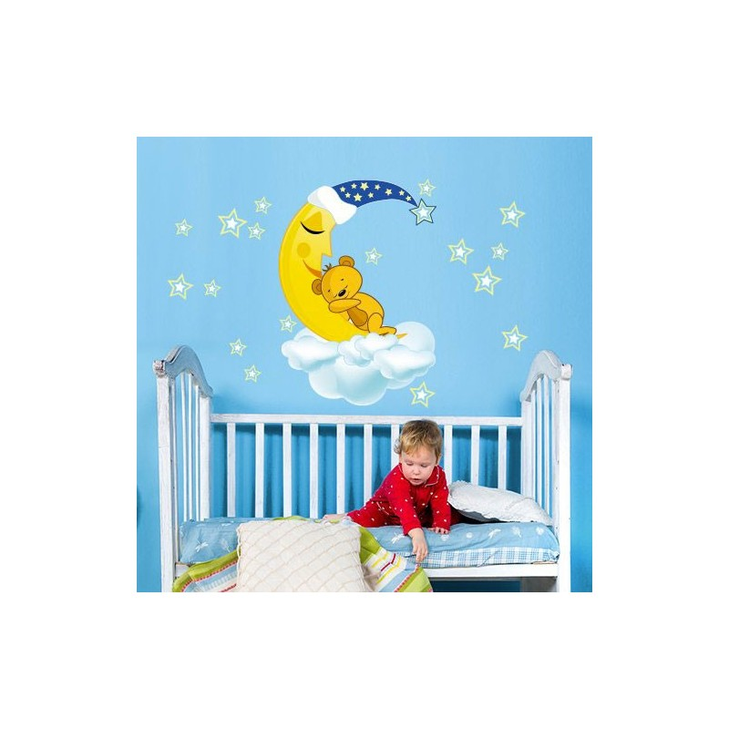 Stickers ours chambre b b stickers et for Stickers ourson chambre bebe