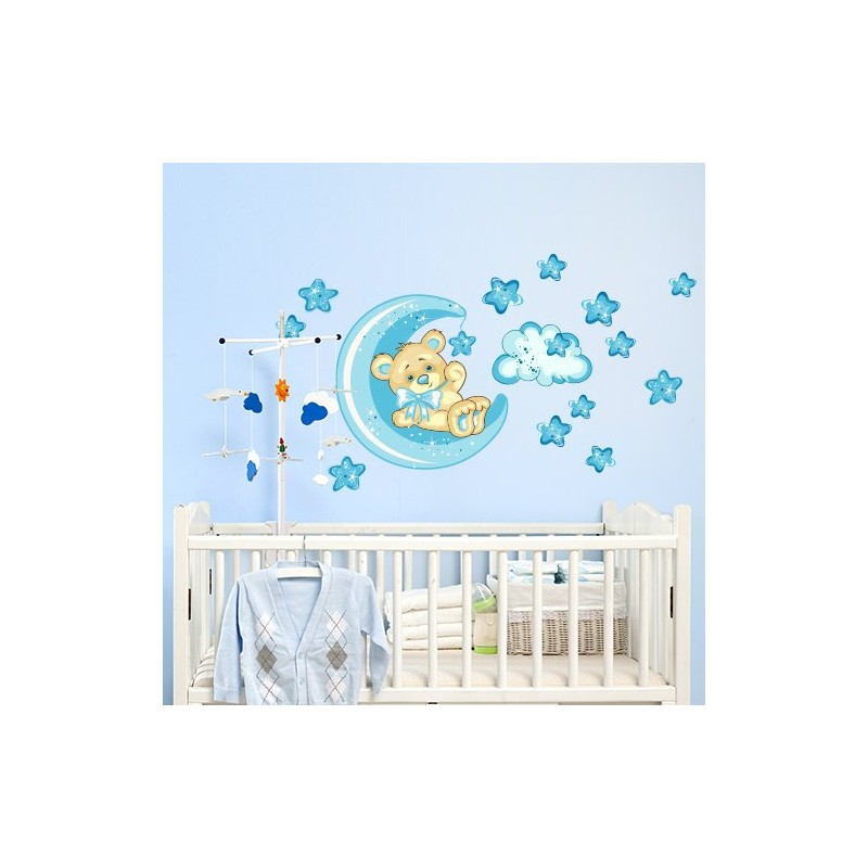 Stickers chambre bebe ourson solutions pour la - Stickers repositionnables chambre bebe ...