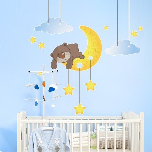 stickers chambre bebe ourson solutions pour la. Black Bedroom Furniture Sets. Home Design Ideas