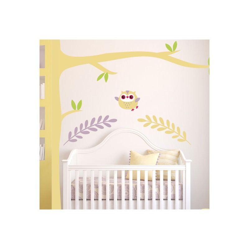 stickers chambre b b hiboux pour le petit roi de la maison. Black Bedroom Furniture Sets. Home Design Ideas