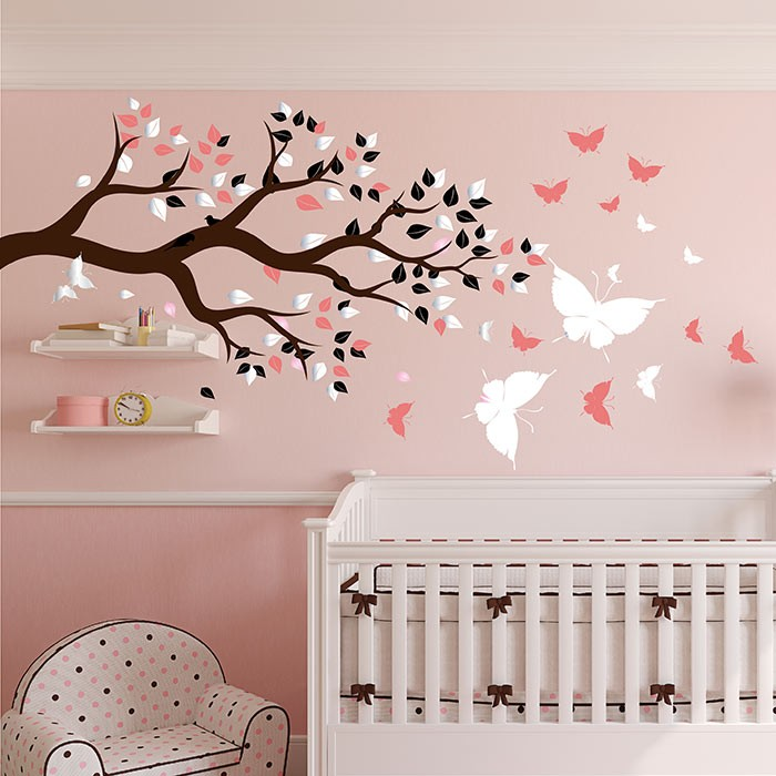 stickers chambre bebe arbre. Black Bedroom Furniture Sets. Home Design Ideas