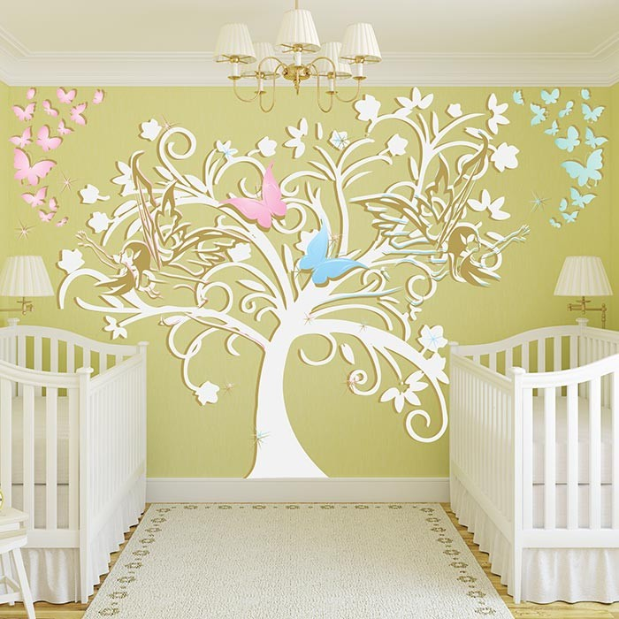 Stickers chambre bebe fille best chambre bebe grise et for Sticker mural chambre fille